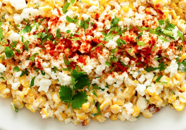 Mexican Street corn salad up close