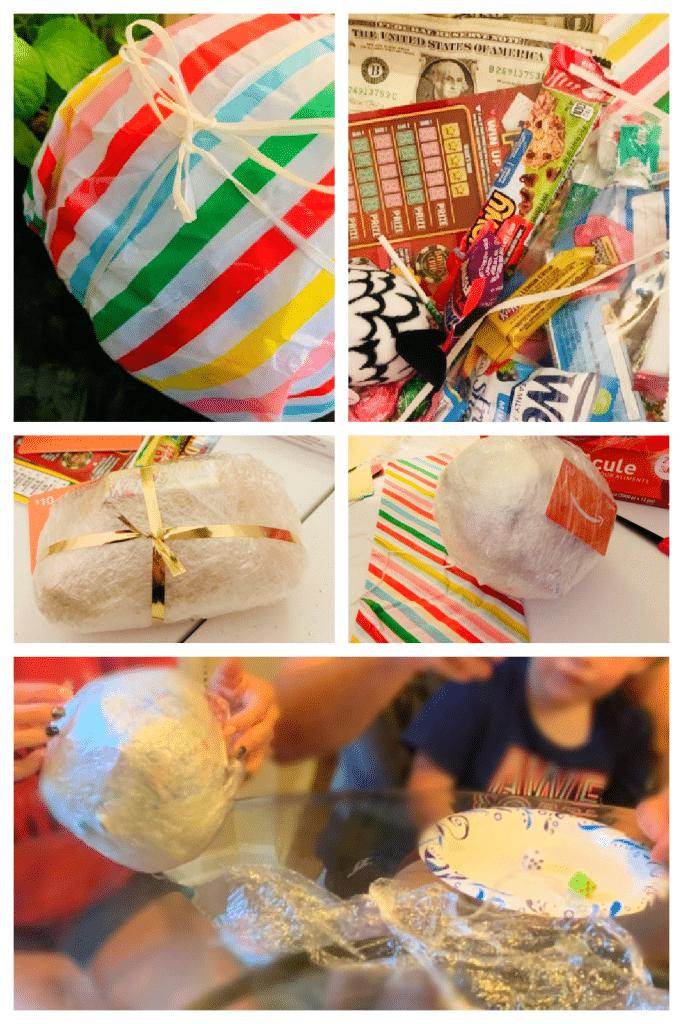 Plastic Wrap Ball Game Prizes